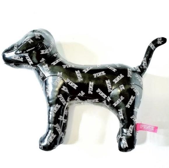 PINK Victoria's Secret Other - PINK Victoria's Secret Shiny Black Logo Puppy Dog